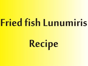 fried fish lunumiris